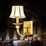 OYY Modern Thing Applies Applies Fototapete of European Style Kupfer American Spotlight Lounge Einfache Nacht Korridor Moderne Innenwandleuchte,Einzelner Kopf,