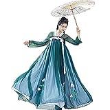 SADWQ Cuento de Hadas Tradicional Chino Antiguo Hanfu Ropa de Mujer Tang Folk Traje Princess Traje(Verde 6 Metros,Asitico XL)