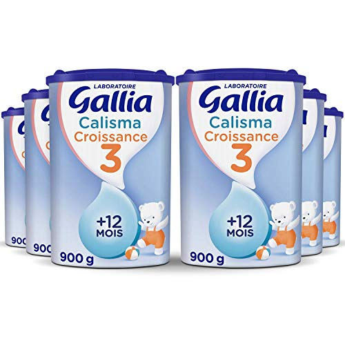 Laboratoire Gallia Calisma 3 - Lait de Croissance (3ème age) en poudre pour les bébé dès 12 mois - 6 boites de 900 g
