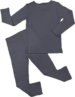 iChunhua Baby Boys Girls Long Sleeve Toddler Sleepwear Solid Snug Fit Pajama Sets