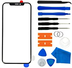 Apple iPhone X Screen Lens Glass Replacement Kit,Front Outer Touch Screen Glass Lens Replacement for iPhone X 5.8 inch with Adhesive and Tool kit(iPhone X 5.8' Black)