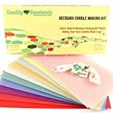 Make Your Own Beeswax Candle Kit - Includes 10 Assorted Colored 100% Beeswax Honeycomb Sheets and Approx. 6...