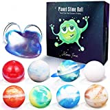 9 Pcs Galaxy Slime Party Favor Colorful Planets Sensory Toys Slime DIY Kit Sludge Toy Fluffy Stretchy Stress Relief Classroom Easter Gifts for Kids Boys Girls, Easter Eggs Hunt,Easter Basket Stuffers