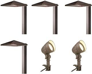 Hampton Bay Low-Voltage Integrated LED Bronze Outdoor Light Kit