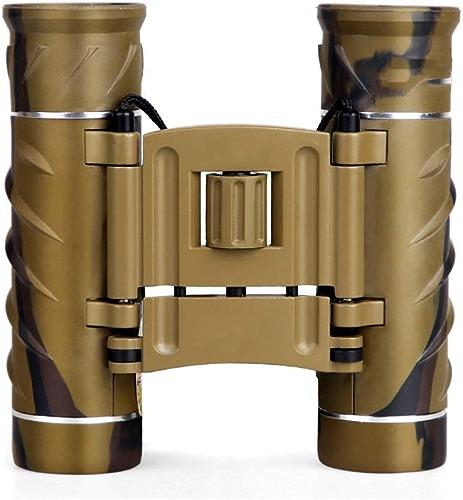 YHSFC Jumelles 12X26 compactes avec Sac de Transport et Tour de Cou Jumelles Pliantes HD pour l'observation des Oiseaux en randonnée