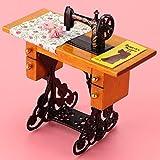 Chiwe Juguete de Muebles de casa de muñecas, máquina de Coser 1:12, Accesorio de casa de muñecas, niños para casa de muñecas 1:12 muñecas niñas