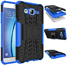 OEAGO Galaxy On5 Case, Samsung Galaxy On5 Case [Shockproof] [Impact Protection] Tough Rugged Dual Layer Protective Case with Kickstand for Samsung Galaxy On5 - Blue
