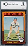 1975 Topps #223 Robin Yount Rookie Card Graded BCCG 8. rookie card picture