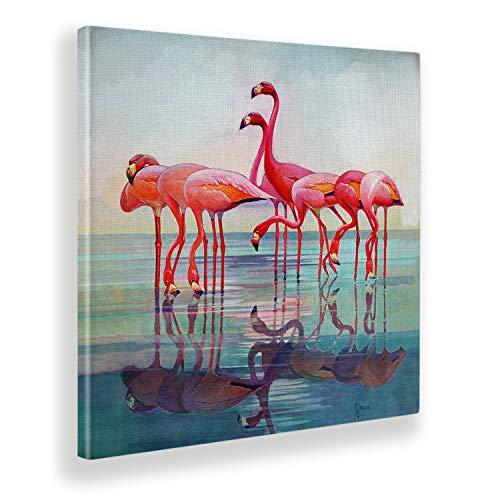 Giallobus - Pintura - Artists Saturday Evening - Teal - Tela Canvas - 50x50 - Vintage - America - Años 50 - Listo para Colgar