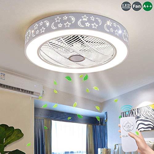 Deckenventilatoren mit 72W Lampe Deckenventilator Beleuchtung Fernbedienung Dimmbare LED Ultra-Quiet Fan Schlafzimmer Modernes Wohnzimmer for Kinder Gesunde Beleuchtung