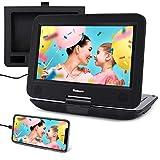 NAVISKAUTO Lecteur DVD Portable Voiture 10.1 Pouce pour Enfant Supporte HDMI Input,Vidéo Full HD, AV in/Out,Dernière mémoire,Region Libre,USB SD MMC