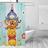 FFull-BAtttery-Shop Badezimmer Duschvorhang Winnie The Pooh Bear Home Decor Duschvorhänge mit Haken