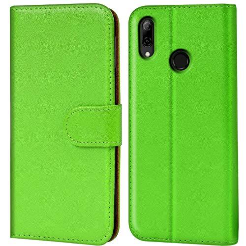 Verco P Smart 2019 Hülle, Handyhülle für Huawei P Smart 2019 Tasche PU Leder Flip Hülle Brieftasche [6,2 Zoll] - Grün