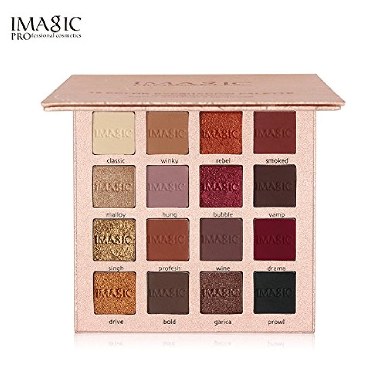 失敗ありがたい記憶IMAGIC New Arrival Charming Eyeshadow 16 Color Palette Make up Palette Matte Shimmer Pigmented Eye Shadow Powder