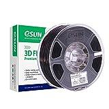 eSUN ABS+ Filament 1.75mm, ABS Plus 3D Drucker Filament, Maßgenauigkeit +/- 0.05mm, 1KG (2.2 LBS) Spule für 3D Drucker in Vakuumverpackung, Schwarz