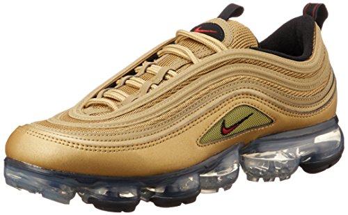 Nike Scarpe Uomo Sneakers Air Vapor Max 97 Gold in Tessuto Oro AJ7291-700