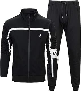 PASOK Men's Casual Tracksuit Set Full Zip 2 Pieces Jogging Athletic Sweat Suits