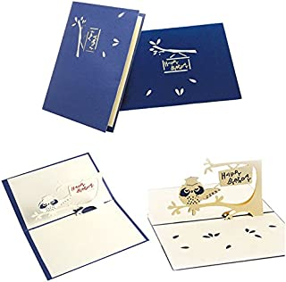 Best Quality 3d Pop Up Cute Owl Greeting Card Handmade Birthday Party Easter Halloween, Blank Greeting Cards - French Greeting Card, Happy Birthday Free Card, Easter Cards, Up Card, Up Cards