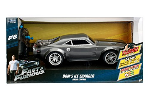 NEW 1:16 W/B JADA TOYS RADIO CONTROL CAR COLLECTION - FAST & FURIOUS - FATE OF THE FURIOUS 8 - DOM'S ICE CHARGER R/C Radio Control Car By Jada Toys
