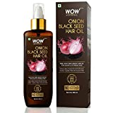 WOW Skin Science Onion Oil - Black Seed Onion Hair Oil - Controls Hair Fall - No Mineral Oil, Silicones & Synthetic Fragrance - 200 ml