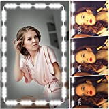 Led Vanity Mirror Lights, Hollywood Style Vanity Make Up Light, VAHIGCY 10ft Ultra Bright White LED, Dimmable Touch Control Lights Strip, for Makeup Vanity Table & Bathroom Mirror, Mirror Not Included