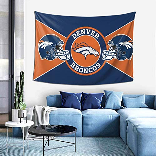 Denver Broncos Football Logo Tapestry Wall Hanging Art Tapestry Home Decor 59x59 inch