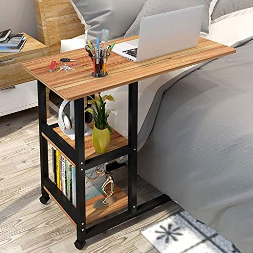 Support d'ordinateur Portable en Fer forgé Mobile Multi-Couche Paresseux Table Salon Chambre Table d'appoint Simple en Fer forgé Bureau Table d'étude Table précoce