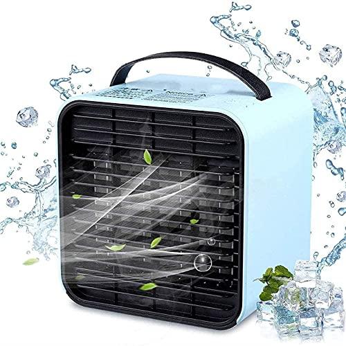 JYSXAD Air ner portátil, Mini Ventilador Enfriador de Aire, Unidad de Aire de enfriamiento rápido con Luces LED, USB y Aire móvil para Enfriar el hogar y la Oficina (Enfriador de Aire portátil)