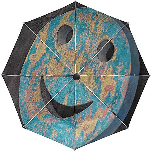 Automatische Regenschirm Smiley Smiley Dekoration Reise bequem Winddicht wasserdicht Folding Auto Open Close