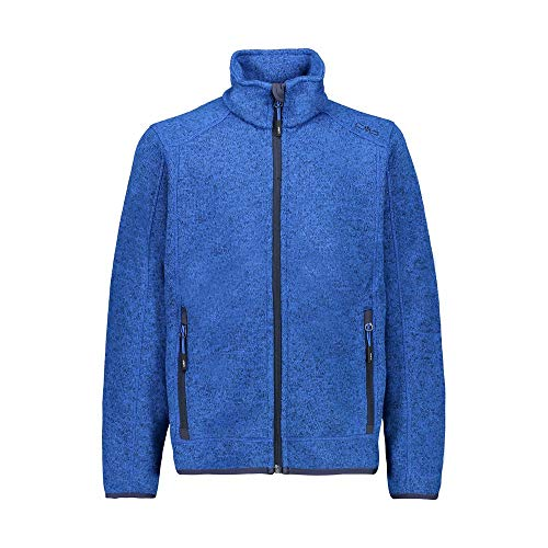 CMP – F.LLI Campagnolo Jungen Knit Tech Polyester-Strickfleecejacke Fleecejacke, Royal Mel-Royal, 152