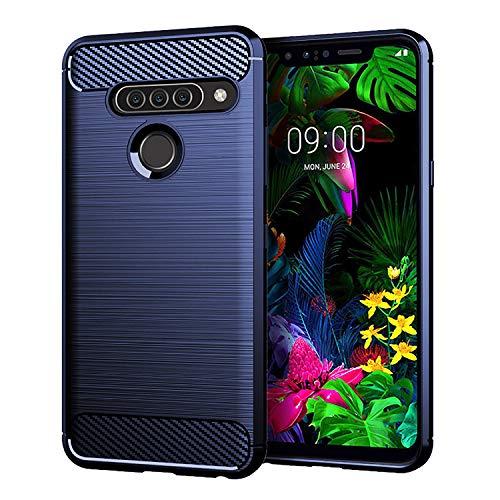 DQG Anti-Fall hülle für LG G8S ThinQ Hülle, Weiche Handytasche Kohlefaser TPU Handyhülle Silikon Tasche Schale rutschfest Hülle Cover für LG G8S ThinQ (6.21