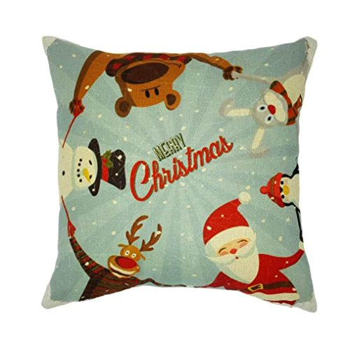 Pillow case, Vovotrade Xmas Natale divano letto Home decorazione festival federa cuscino 45cmx45cm/45x 45cm 45cmx45cm/17.7''x17.7' E