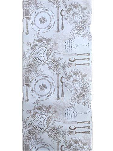 LaVelaHOME Tappeto Cucina su Misura (a metraggio) Largo 50 cm Beige Shabby Chic