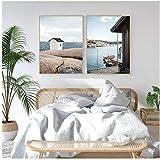 Hdksa Boats Archipelago River Landscape Wall Art Pictures Pinturas en lienzo...