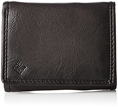 Columbia Men's RFID Leather Wallet - Big Skinny Trifold Vertical Security Protection Credit Card Slots and ID Window, Black