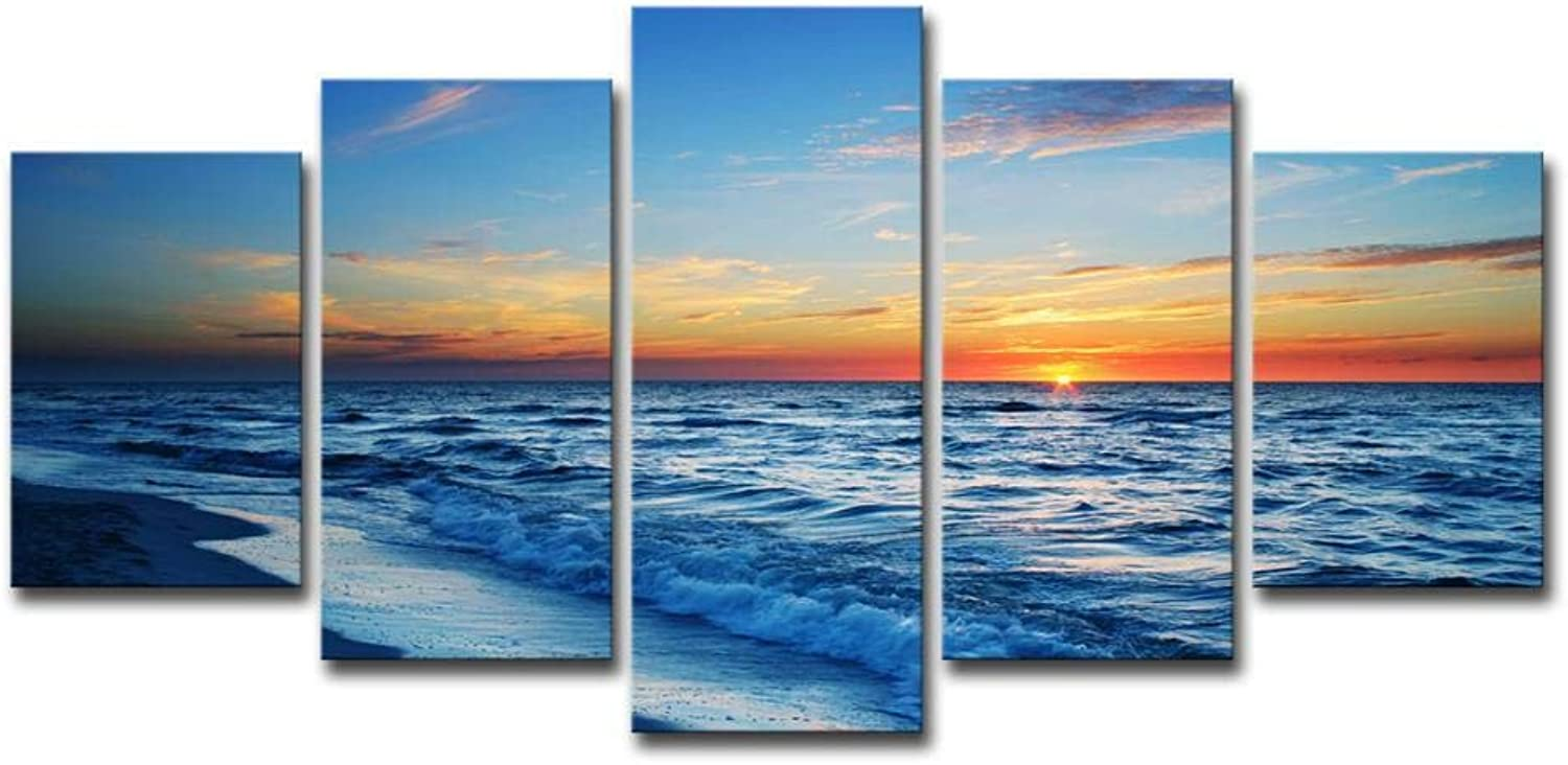ChuangYing Home Decoration Wall Sticker Sunset Beach sea View Painting