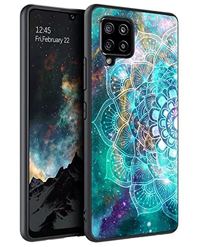 BENTOBEN Samsung Galaxy A42 5G Case, Slim Fit Glow in The Dark Shockproof Protective Hybrid Hard PC Soft TPU Bumper Phone Cover for Samsung Galaxy A42 6.6' 5G 2020, Mandala in Galaxy