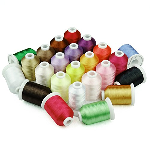 1100 Yards Spool Polyester Embroidery Machine Thread Assorted Colors Set for Home and Commercial Sewing Embroidery Machines (23 Colors)