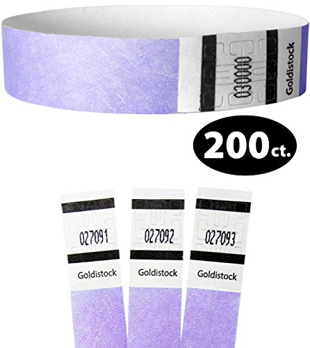 Goldistock Original Series – 3/10,2 cm Tyvek Wristbands 200 count – Event identificazione fasce