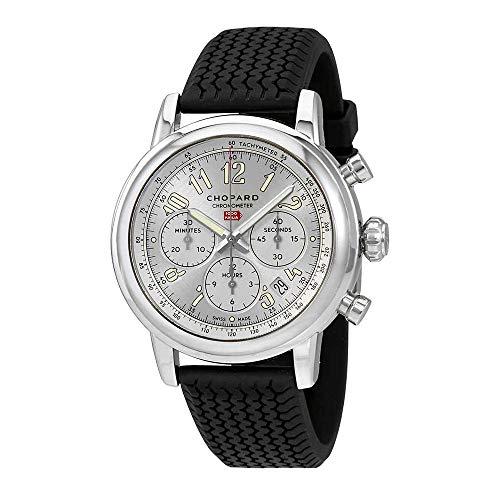 Chopard mille miglia cronografo automatico argento quadrante mens orologio...