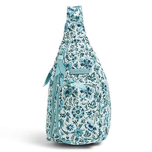 Vera Bradley Women's Signature Cotton Mini Sling Backpack, Cloud Vine, One Size