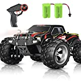 DOUBLE E RC Car 4WD High Speed Monster Trucks Upgraded 2 Batteries Headlights Outdoor Remote Control Cars Off Road RC Trucks for Boys Girls Kids