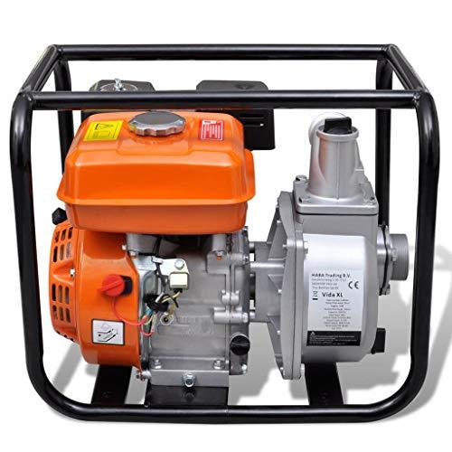 Tidyard Benzin-Wasserpumpe 50 mm Schlauchanschluss Petrol Water Pump Hose Connector 5.5 HP DIY Supplies Metal Pumps Pool Fountain and Pond Pumps