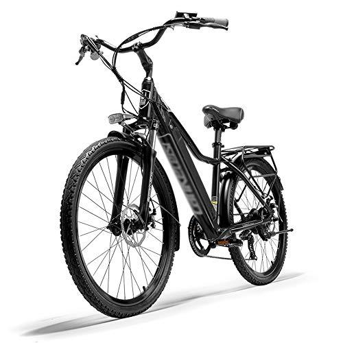 PHASFBJ Eléctrico Bicicleta, Bicis Electrica Shimano 7 Velocidades Inteligente E Bike 26...
