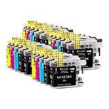 Tinnee - 20 paquetes LC123XL cartucho de tinta, cartuchos equivalentes para Brother LC123, montados en impresoras Brother MFC-J4510DW MFC-J4410DW MFC-J870DW MFC-J6520DW DCP-J132W MFC-J470DW MFC-J650DW