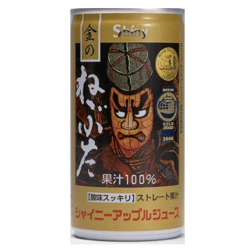 シャイニー りんごジュース 金のねぶた 195g 缶×60本