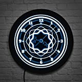 Iluminación led Multicolor Estilo Retro Mandala Reloj de Pared 3D patrón Floral números árabes Reloj de iluminación de Arte Decorativo