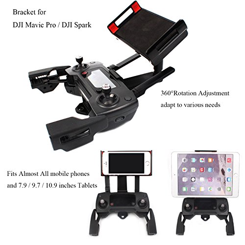 Crazepony-UK Adjustable Cellphone Tablet Monitor Holder Bracket Supporto for DJI Mavic PRO DJI Spark Drone Transimitter Accessories Fits all Smartphones 7.9 / 9.7 / 10.9 Inches Tablets