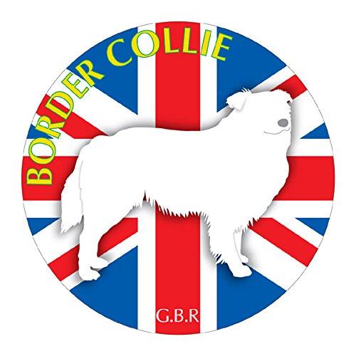 ボーダーコリー マウスパッド 吸盤 吸着 グッズ 動物 イラスト 癒し アニマル ドッグ マウスパット 犬 いぬ イヌ シルエット 影 アクセサリー