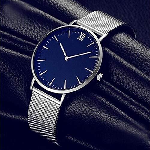 ZWH Cuarzo Reloj de Pulsera de Oro Impermeable del Acero Inoxidable Reloj de Las Mujeres de la Hebilla clásico (Color : Sliver)